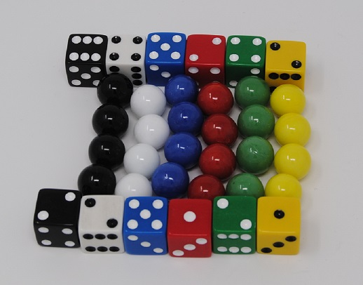 Replacement Marbles & Dice for Aggravsion Game 14mm marbles