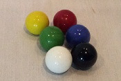 "Machine Marbles- 14mm / 9/16"" 6 color (10 each) Game Asst."